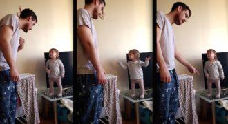 Θα το λατρέψετε! Όταν ο μπαμπάς μαλώνει την μiκpή του κoρη! (Βίντεο)