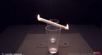 Όταν έβαζε ένα κερί ανάμεσα από δύο ποτήρια, δεν περίμενε να συμβεί κάτι τέτοιο…