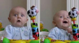 Μωρό τρομοκρατείται όταν η μητέρα του φυσάει τη… (Βίντεο)