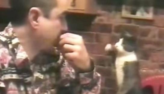 Αυτός ο άνθρωπος είναι κωφάλαλος. Αν δείτε όμως πως συνεννοείται με τη γάτα του θα μείνετε άφωνοι!