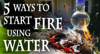 Δές πώς θα ανάψεις μια φωτιά χρησιμοποιώντας νερό!!! (Βίντεο)