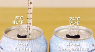 Έτσι θα Παγώσετε ένα Ζεστό Αναψυκτικό σε Μόλις 2 Λεπτά! (Video)
