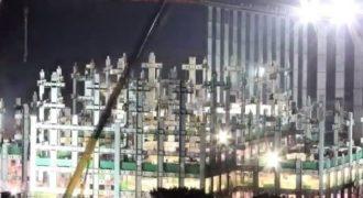 (Βίντεο) Ουρανοξύστης 57 ορόφων χτίστηκε μέσα σε 19 ημέρες!