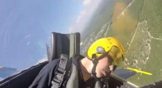 Πιλότος λιποθύμησε την ώρα της πτήσης του πάνω σε μαχητικό… Δείτε το βίντεο-Σοκ