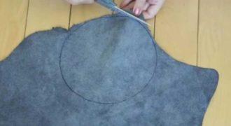 Κόβει κυκλικά ένα ύφασμα και φτιάχνει κάτι που θα λατρέψουν όλες οι γυναίκες!