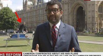 Το απόλυτο videobombing: Μάγοι εισβάλουν σε ρεπορτάζ Βρετανικού καναλιού!