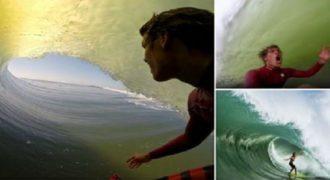 Ένα εντυπωσιακό βίντεο ενός Surfer που κατέγραψε φυσικά με μια GoPro. (Βίντεο)