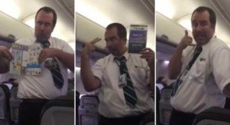 Αυτός ο αεροσυνοδός θα σας κάνει να ξεκαρδιστείτε στα γέλια!