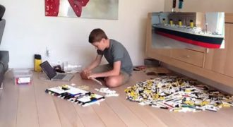 Έφηβος έχτισε τον Τιτανικό χρησιμοποιώντας πάνω από 30.000 τουβλάκια Lego