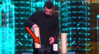 Ξεκίνησε με ένα μπουκάλι κρασί και ένα ποτήρι. Δευτερόλεπτα αργότερα; Μας έπεσε το σαγόνι!