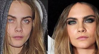 Διάσημες με ή χωρίς μακιγιάζ (Video)