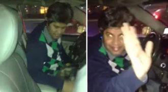 Μεθυσμένη νεαρή κοπέλα πιάνει σε βίντεο τον ταξιτζή να της κλέβει το κινητό!