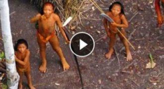 Αεροπλάνο τράβηξε ΒΙΝΤΕΟ από σπάνια, άγρια φυλή που ζει στον Αμαζόνιο. .ΠΡΕΠΕΙ NA TO ΔΕΙΣ!