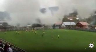 Νομίζεται τα έχετε δει όλα σε ένα γήπεδο ποδοσφαίρου; Δείτε τι έγινε σε αυτό το γήπεδο!