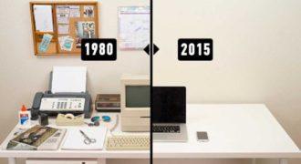 Η εξέλιξη του γραφείου μέσα σε 35 χρόνια. Πως οι υπολογιστές αντικατέστησαν τα πάντα!