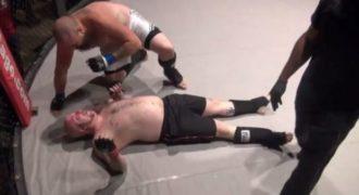 MMAer τα έκανε πάνω του εν ώρα αγώνα (vid)