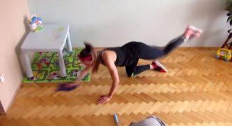 Kι όμως υπάρχει τρόπος να γυμναστείτε και να κάνετε και τις δουλειές του σπιτιού ταυτόχρονα!