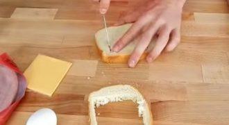 Κόβει το ψωμί του τοστ σε τετραγωνάκια. Μόλις δεις γιατί, θα τρέξεις στην κουζίνα να κάνεις το ίδιο! (ΣΥΝΤΑΓΗ + ΒΙΝΤΕΟ)