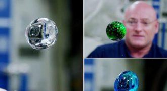 Αστροναύτες παίζουν με το νερό προσθέτοντας χρωστικές τροφίμων σε συνθήκες έλλειψης βαρύτητας! Το αποτέλεσα μαγευτικό!