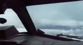 Ένα αεροπλάνο συναντιέται με έναν τυφώνα! Δείτε τι συμβαίνει? (Βίντεο)