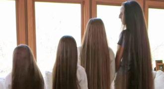 Αυτή η μητέρα και οι τρεις κόρες της δεν έχουν κόψει ποτέ τα μαλλιά τους!