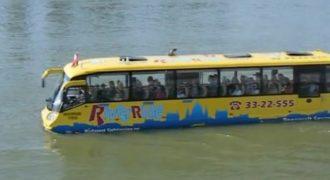 Αυτό το λεωφορείο μπήκε στο νερό και… δείτε τι έγινε μετά! (Βίντεο)
