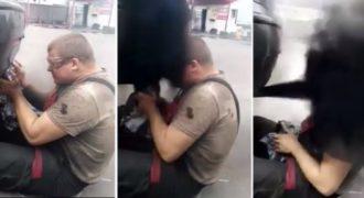 (Ξεκαρδιστικό Βίντεο) Δείτε τι έπαθε Ένας μηχανικός στην Ρωσία όταν μπουκώσε την εξάτμιση ενός αυτοκινήτου!!