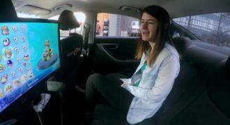Αυτό είναι το πρώτο ταξί στον κόσμο στο οποίο μπορείτε να παίξετε Mario Kart. (Βίντεο)