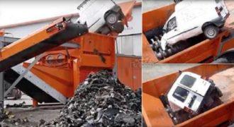 Το μηχάνημα που εξαφανίζει κάθε αυτοκίνητο μέσα σε λίγα λεπτά. (Βίντεο)