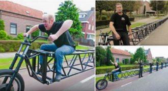Αυτό το 35 μέτρων Ολλανδικό ποδήλατο μπήκε στο Βιβλίο Γκίνες. (Βίντεο)