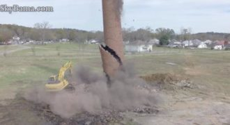 Όταν η καταστροφή μιας καμινάδας δεν πάει όπως την είχαν προγραμματίσει… (Βίντεο)