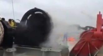 Δείτε άγκυρα πλοίου… εκτός ελέγχου! (Βίντεο)
