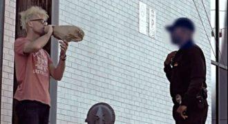 Απίστευτο μαγικό τρικ ενός «μπεκρή» που άφησε άγαλμα τον αστυνομικό και γλίτωσε τη σύλληψη