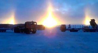 Το σπάνιο «φαινόμενο του φωτοστέφανου» που αποδεικνύει ότι θα έχουμε πολύ βαρύ χειμώνα (Βίντεο)