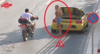 Πως αντιδρούν οι Έλληνες οδηγοί όταν μια ωραία παρουσία τους ζητάει βοήθεια; (Βίντεο)