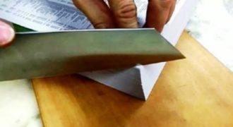 Φοβερό!! Ιαπωνικό μαχαίρι κόβει τον τηλεφωνικό κατάλογο σαν να ήταν ζελατίνη. (Βίντεο)