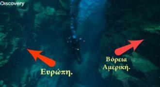 Βίντεο που κόβει την ανάσα και δείχνει πως είναι να κολυμπάς ανάμεσα από δύο ηπείρους.