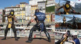 Η πιο επική μάχη μεταξύ του Scorpion και Sub-Zero από το Mortal Kombat στο Πόρτο.