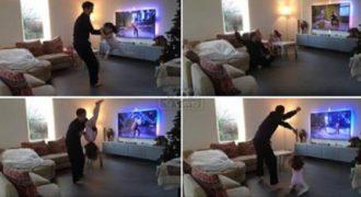 Πατέρας και κόρη αναπαριστούν ένα χορευτικό από το Dancing With The Stars. Πανέμορφο!