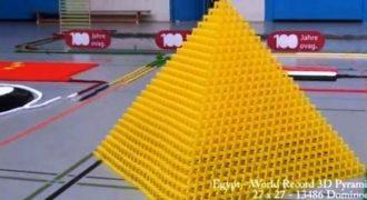Το πιο εθιστικό βίντεο με 128.000 ντόμινο να πέφτουν σε ένα εντυπωσιακό θέαμα. (Βίντεο)