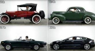 Πως έχουν εξελιχτεί τα αυτοκίνητα τα τελευταία 100 χρόνια σε μόλις 3 λεπτά. (Βίντεο)