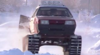 Μετέτρεψαν ένα Lada σε μορφή… τάνκ! (Βίντεο)