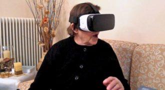 80χρονη στην Κοζάνη βάζει για πρώτη φορά μάσκα εικονικής πραγματικότητας. Και η αντίδραση της είναι απίστευτη