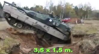 ΕΝΤΥΠΩΣΙΑΚΟ!Δείτε πως ένα τανκ περνά από ένα… χαράκωμα!(Βίντεο)