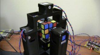Έφτιαξαν ρομπότ που λύνει το κύβο του Ρούμπικ σε ένα δευτερόλεπτο (Βίντεο)