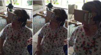 Αυτή ήταν η αντίδραση της γιαγιάς μετά την εμπειρία της με γυαλιά εικονικής πραγματικότητας.