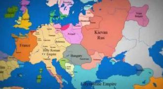 Οι αλλαγές των συνόρων στην Ευρώπη την τελευταία χιλιετία μέσα σε 3 λεπτά (Video)