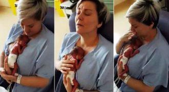 Η απερίγραπτη αντίδραση της μητέρας που για πρώτη φορά αγκαλιάζει το πρόωρο μωρό της!