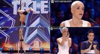 Ένας άντρας που έκανε τον κόσμο να παραμιλά χορεύοντας Pole Dance σε διαγωνισμό ταλέντων.