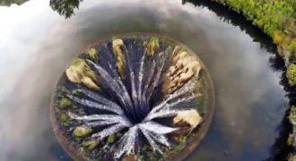 Βίντεο:Γιγαντιαία τρύπα – εσωτερικός καταρράκτης σε λίμνη της Πορτογαλίας!
